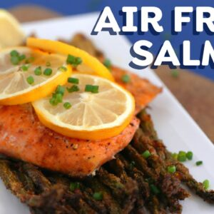 AIR FRYER SALMON 3 Ways + FREE spice rubs eBook!