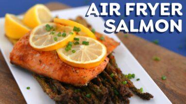 AIR FRYER SALMON 3 Ways + FREE spice rubs eBook!