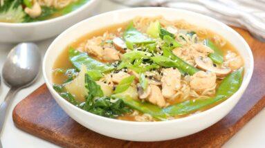 Chicken Ramen Soup | Easy 20 Minute Fall Soup Recipe