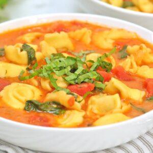 Creamy Tomato & Tortellini Soup | 20 Minute Dinner Recipe