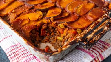 SPICY SWEET POTATO SHEPHERDS PIE | NO OIL & GREAT FOR WEIGHT LOSS