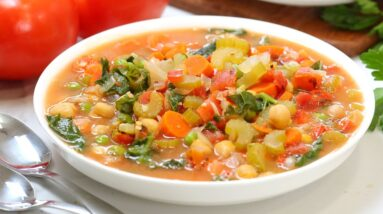 Hearty Vegetable Soup | Healthy + Nutritious + Easy Recipe