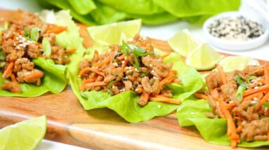 Make Ahead Chicken Lettuce Wraps   Low-Carb + Healthy + Easy Meal Prep Recipe