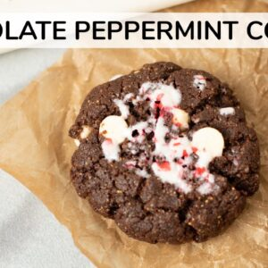 CHOCOLATE PEPPERMINT COOKIES | gluten-free cookie recipe