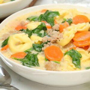 Creamy Tortellini Soup | Quick + Easy Family Dinner Recipe