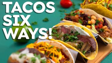 Easy TACOS 6 Ways – Fish Tacos, Steak Tacos & More!