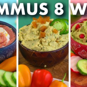 Healthy HUMMUS Recipes – 8 Crazy Flavors!