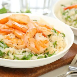 Lemon Shrimp Risotto | Healthy + Quick + Easy Dinner Recipe