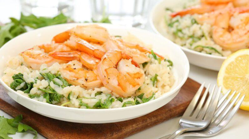 Lemon Shrimp Risotto | Healthy + Quick + Easy Dinner Recipe
