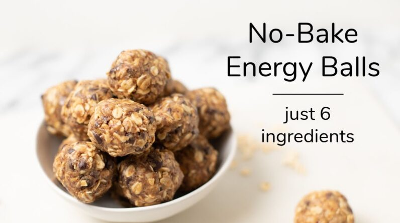 NO-BAKE OATMEAL ENERGY BALLS | just 6 ingredients
