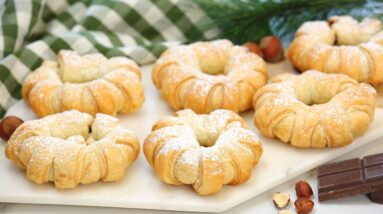 Puff Pastry Nutella Donuts   2 Ingredient Christmas Dessert