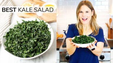 SIMPLE KALE SALAD | my go-to recipe