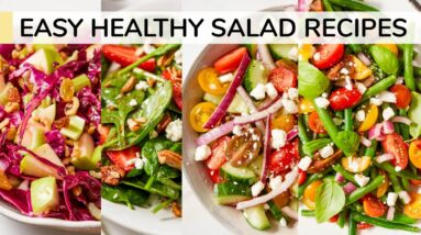 4 EASY HEALTHY SALAD RECIPES
