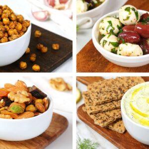 4 Healthy Mediterranean Snack Recipes | Quick + Easy + Delicious Snacks!