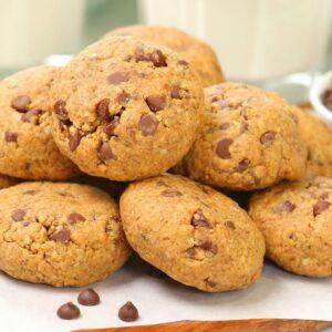 5 Ingredient Chocolate Chip Cookies | Gluten Free + Egg Free + Dairy Free