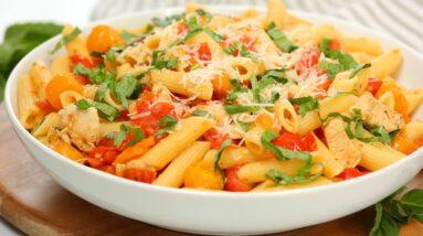 Bruschetta Chicken Pasta | Easy 15 Minute Dinner Recipe