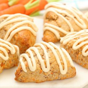 Carrot Cake Scones | Perfect for Easter + Easy Spring Baking