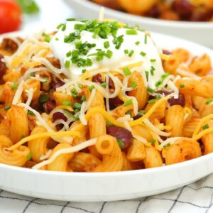 Chili Cheese Pasta | Easy + Family Friendly Make Ahead Meals!