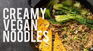 CREAMY UMAMI NOODLES | VEGAN COMFORT FOOD