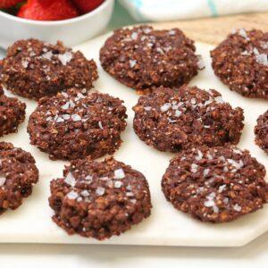 Double Chocolate Sea Salt Cookies | Gluten Free + Vegan + Make Ahead Recipe