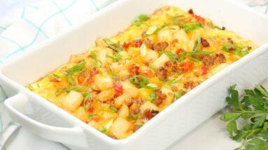 Easy Breakfast Casserole | Delicious Weekend Brunch Recipe!
