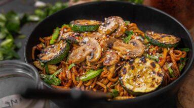 EASY KOREAN NOODLES | CHEAP EASY VEGAN