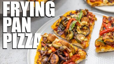 FRYING PAN PIZZA | EASY YEAST FREE PIZZA BASE