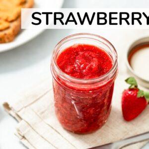 HOW TO MAKE STRAWBERRY JAM | healthy, homemade chia seed jam