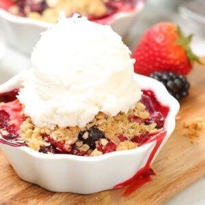 Summer Berry Crisps | Easy + Delicious Summer Baking
