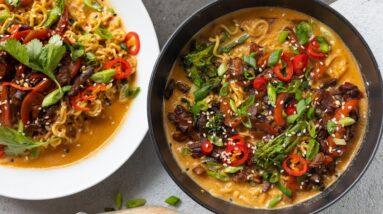 THAI RED CURRY RAMEN BOWL | VEGAN RECIPE