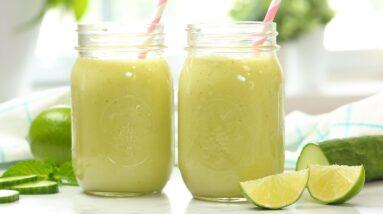 Cucumber Lime Refresher | Healthy Starbucks Inspired Summer Drink