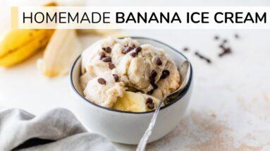 HOMEMADE BANANA ICE CREAM | no sugar, no dairy, no ice-cream machine
