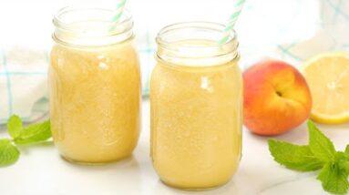Iced Peach Green Tea Lemonade | Healthy Starbucks Inspired Summer Drink