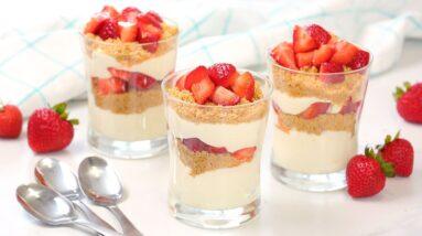 Strawberry Cheesecake Parfaits | Easy No-Bake Summer Desserts