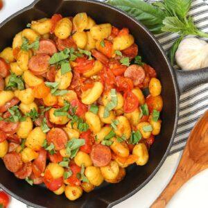 Chicken Sausage & Tomato Gnocchi | 15 Minute Weeknight Dinner Recipe