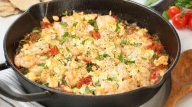 Baked Greek Shrimp with Feta   20 Minute Meal   Easy Weeknight Dinner Recipe