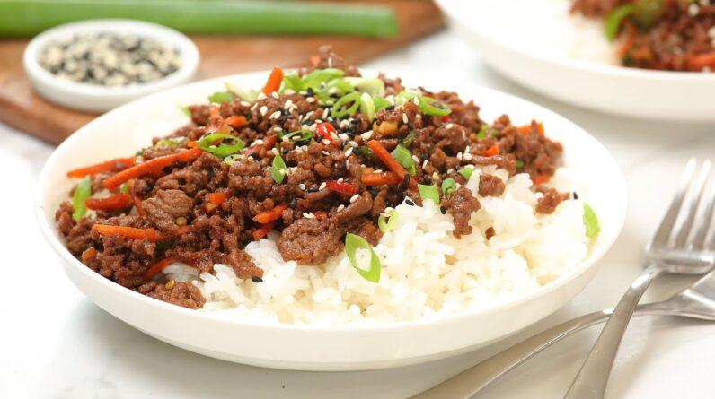 Korean Beef Bowls | 20 Minute Easy Weeknight Dinner Recipe