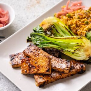 KOREAN FRIED RICE AND BBQ TOFU in 5 MINUTES!