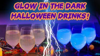 3 Spooky Glow-in-the-Dark Halloween Drinks!